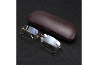 【Free Shipping + Flash Deal】Progressive Multi Focal Anti-blue Light Rimless Reading Reader Glasses Eyeglasse With Box