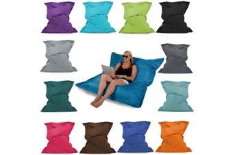 Giant Bean Bag Floor Cushion - 3 Sizes Indoor/Outdoor Waterproof Garden Beanbag(black,Only Cover)