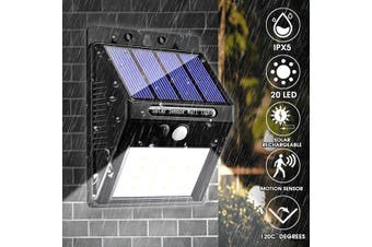 20LED Solar Wireless Power PIR Motion Sensor Lights 400LM Waterproof Super Bright Security Night Light for Yard Walkway