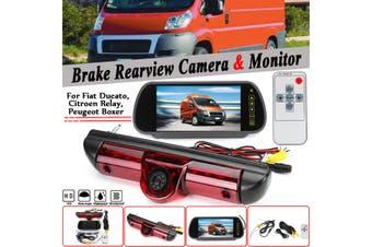 7INCH Monitor Rear Brake Light Reversing Camera For Fiat Ducato For Citroen Relay For Peugeot Boxer