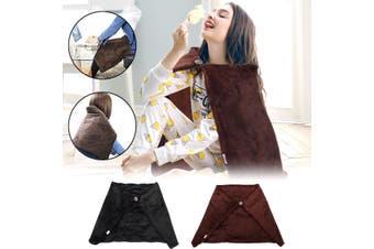 【Free Shipping + Flash Deal】 Soft Heated Shawl Blanket Winter Electric Warmer Neck Shoulder Heating Pad USB (coffee,Brown Heated Shawl)