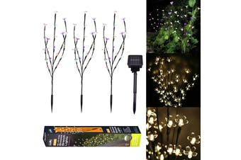【Free Shipping】100% Original KCASA Solar Garden Decorative Lights Outdoor,New LED Solar Powered Faux Landscape Lights for Pathway Yard Patio Deck Walkway Fence Christmas Decoration(warmwhite)
