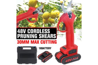 48V Cordless Electric Pruning Shears Secateur Branch Cutter Scissor(With Signal Battery)