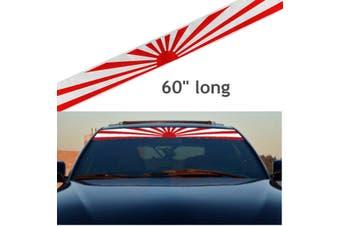 "60"" Japan Rising Sun Daily Low Strip Printed Stripe Windshield Vinyl Sticker Decal"