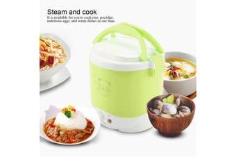 24v OUSHIBA Car Auto Mini Special Non-stick Inner Pot Multi-function Rice Cooker 12V 24V 1.0L Volume for Rice Soup Noodles Vegetable Dessert, Random Color Delivery(green,Green 24V)