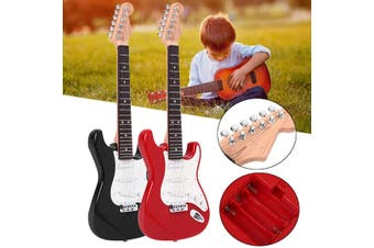 26 Inch Classical Wood Kids Guitar Children Musical Instrument Simulation Educational Toy(red,22X5.5X67.5cm)