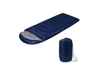 700G/1600G All Season Waterproof Ultralight Compact Hiking Camping Single Sleeping Bag with Carry Bag Solid Colors Lightweight Sleeping Bag(darkblue,1600 g)
