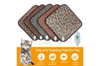 Electric Heat Heated Heating Pet Pad Mat Blanket Bed Dog Cat Auto Power Off (EU Plug)