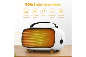 MEILING HW-A205 1000W Space Heater Ceramic Portable Electric Fan Overheat Hot Fan Warmer(UK Plug)