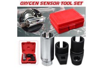 3pcs Auto Oxygen Sensor Socket 6 Point Wrench O2 Tool Remover Installer Set