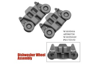 2X W10195416 Dishwasher Lower Jack Wheel Assembly AP5983730 W10195416 PS11722152