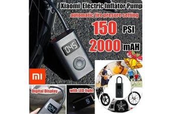 [ XIAOMI ] 2020 NEW Technology Smart Portable Digital Tire Pressure Detection Electric Inflator Pump for Xiaomi Mijia Bike/Motorcycle/Car/Football(Normal Quality(XIAOMI))