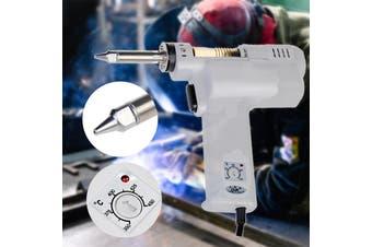 S-993A 100W 220V Electric Vacuum Pump Solder Sucker Soldering Iron Desoldering Tool 350°c ~ 450 °c(white,AU Plug)