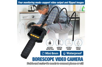 【8.0mm】(Adjustable LED Light) 2.4inch Waterproof Borescope Video Camera Handheld Industrial Endoscope Inspection Probe Camera For Car Machine Home Appliance Tube Inside Check (3.2 ft (980 mm))