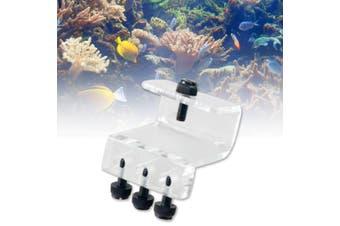 Soft Tube Fixture Holder for Dosing Pump Air Pump (3 Tubes) Acrylic Made Aquarium Fish Tank stands