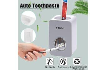 Grey Magnetic Toothbrush Holder Toothpaste Dispenser Bathroom Storage 2/3 Cups - grey