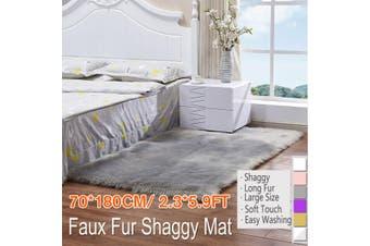 "2.3""x5.9"" Home Large Faux Fur Carpet Sheepskin Rug Fluffy Mat Room Sofa Bed Hairy Shaggy Floor Mat(grey,typeB 70X180cm grey)"