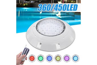 【Free Shipping + Flash Deal】 45W 450LED RGB Swimming Pool LED Light Remote Control IP68 Fountain(45W 450LED)