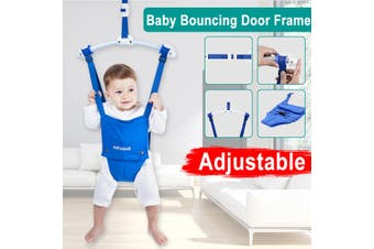 Blue Baby Kids Doorway Jumper Seat Sofa Swing Seats Sofa Baby Physical Trainer(blue)