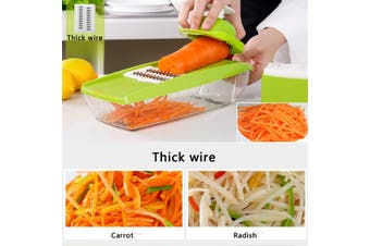 8 in 1 Adjustable Vegetable Fruit Cutters Slicer Chopper Multi-functional Kitchen Tools Gadget Kit