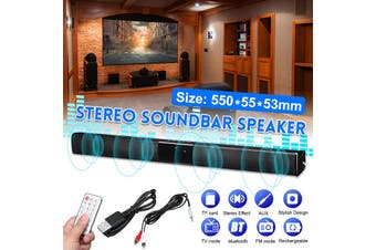 Wireless Bluetooth Soundbar TV Stereo Speaker Subwoofer Sound Bar Home Theater Home Audio(20W ( 550x55x53mm ))