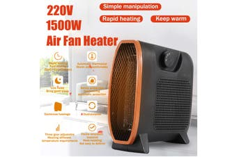 Portable 220V 1500W Portable Mini Electric Heater Fan Handy Air Warmer Silent Home/Office -- Constant Temperature / Intelligent Temperature Control(black,Intelligent Temperature Control)