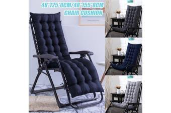 48x155x8cm Thicken Chair Cushion Mat Solid Color Office Chair Buttocks Cushion(black,48x155cm)