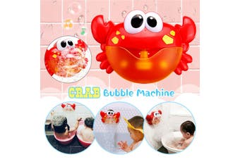 Adorable Crab Bubble Machine Musical Bubble Maker Bath Baby Kid Toy Shower Fun(red,Red Crab)