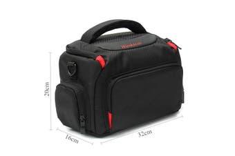 DSLR SLR Camera Waterproof Shoulder Bag Carrying Case For Canon Nikon (Type B Black L)
