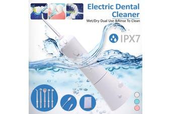 Rechargeable Oral Irrigator Portable USB Dental Irrigator Water Flosser 3 Models 5 Jet Nozzles Water Teeth Pick Flosser Water Jet Teeth Cleaner Tooth Floss(white,Water Flosser)