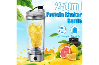 250ml Electric Protein Shaker Mixer Cup HandHeld USB Charging Coffee Milk Blender Sport Bottle(USB Type)