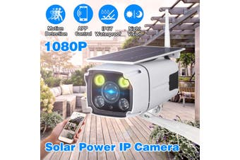 Night Vision 1080P HD Solar Powered Wireless Outdoor WIFI IP Surveillance Camera(Solar Powered Camera)