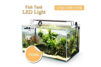 12W/18W/24W Aquatic Aquarium Fish Tank LED Lamp Clip Light Plant Grow 22-51 cm 24W(24W)