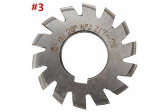 【Free Shipping + Flash Deal 】Diameter 22mm M1 20degree #1-8 Involute Module Gear Cutters HSS NEW
