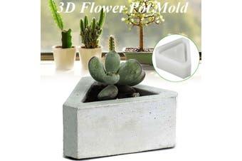 3D Flowerpot Silicone Mold Handmade Triangular Concrete for Succulent Plants DI(C (8.7x9.7x4.1cm))