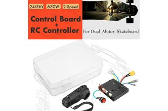Control Board+Remote Controller For 24/36V Dual Motors Skateboard 630W Brushless