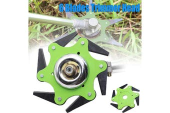 Outdoor Trimmer Head 6 Steel Blades Razors Lawn Mower Grass Cutter(green)