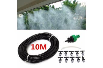 10M Micro Garden Lawn Water Mist Spray Misting Nozzle Sprinkler Cooling Automatic Watering System Hose(standard)