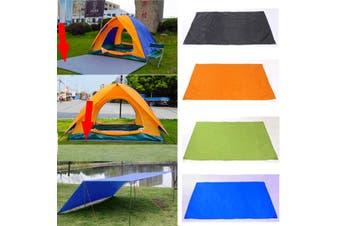 210*150cm Waterproof Tent Tarp Awning Sun Shade Rain Shelter Camping Mat Pad (orange,3pcs/set)