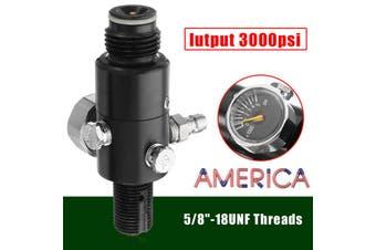 3000psi HPA 5/8''-18UNF Thread Paintball Valve Regulator Air Tank Output(3000PSI)
