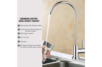 "Bath Kitchen 1/4"" 360° Chrome Osmosis Drinking RO Water Filter Faucet Finish Reverse Sink(silver,Type 1)"