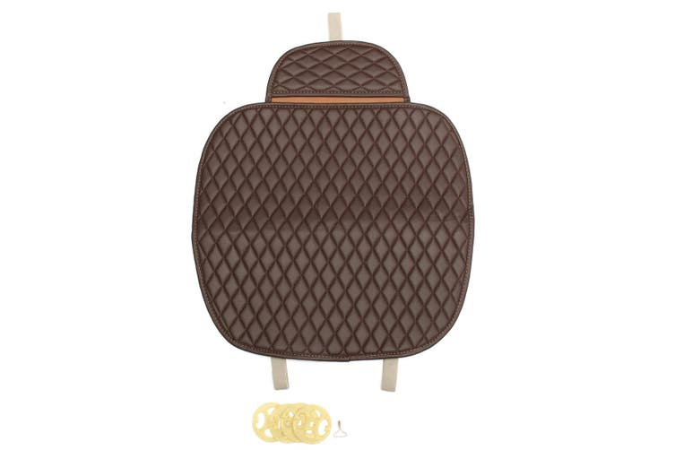 Universal Car Front Seat Cover Breathable Mat Cushion Chair Protector Coffee (coffee)