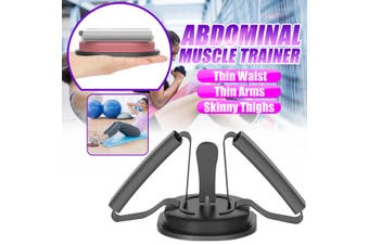 Sit up Abdominal Roller Trainer ab Crunch Core Worker Abs Exercise Machine Gym (black)