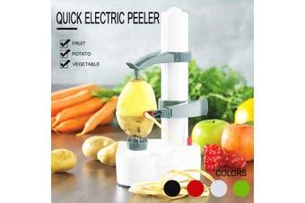 Electric Automatic Peeler Slicer Potato Fruit Apple Orange Vegetable Machine(white)