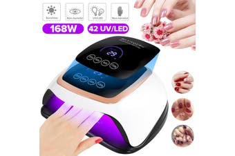 2020 Upgrade True 168W UV LED Nail Polish Glue Lamp Nail Art Gels Dryer Curing Light Timer Phototherapy Machine(US Plug)