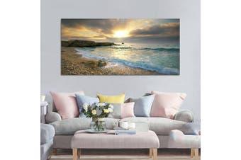 Beach Canvas Print Ocean Wave Sunset Sea Painting Art Wall Home Decor no frame