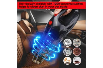 12V 120W Car Vacuum Cleaner Handle Multi-function Portable Wet & Dry Suction(60W)