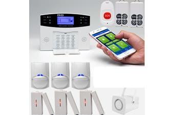 LCD Wireless GSM Home Burglar Alarm System Motion / Door Window Sensor Security(EU Plug)