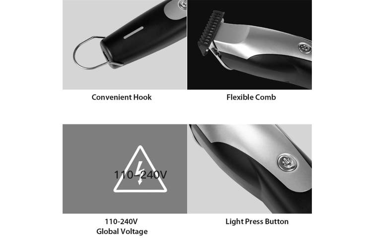 Xiao mi Hummingbird Ele ctric Hair Clipper USB Charging Low Noise Hair Trimmer with 3 Hair Comb(4Pcs)