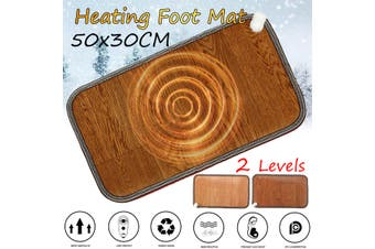 Office Heating Foot Mat Warmer Electric Heating Warm Feet Thermostat Pad Carpet(lightbrown)